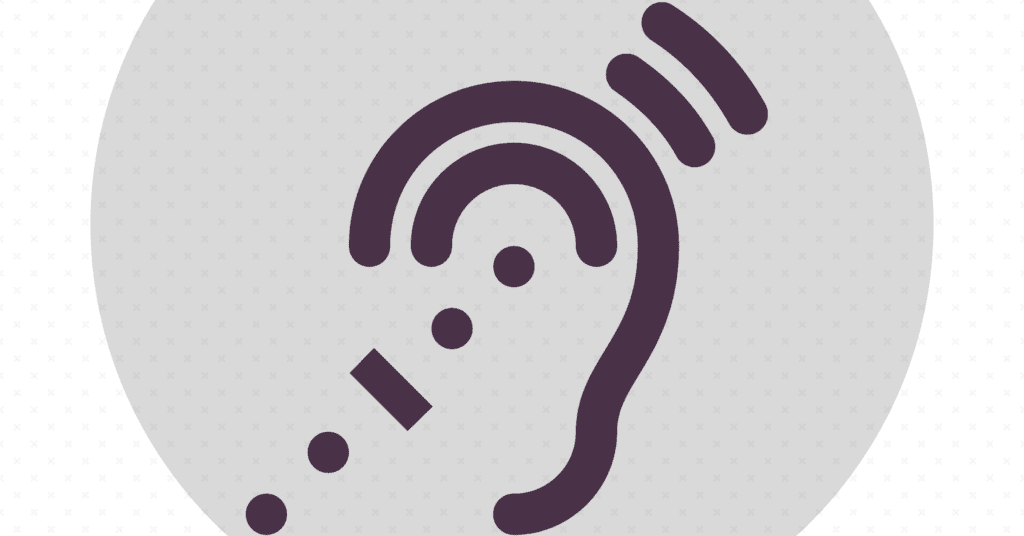 Icon of an ear