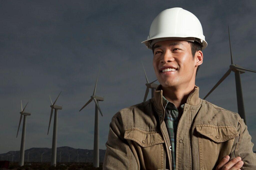 Tending a wind farm, alone.